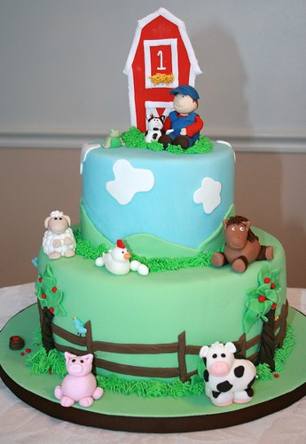 Cake Design Animal : Nathan s Farm Cake I made this for my son s first ...