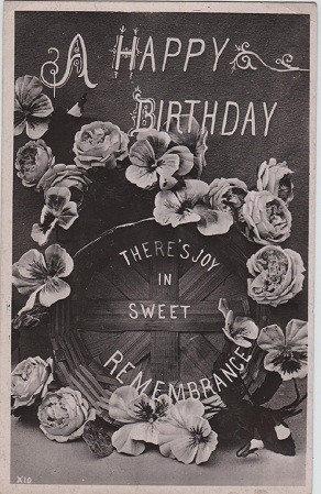 A Happy Birthday Vintage Postcard C 1908 Vintage