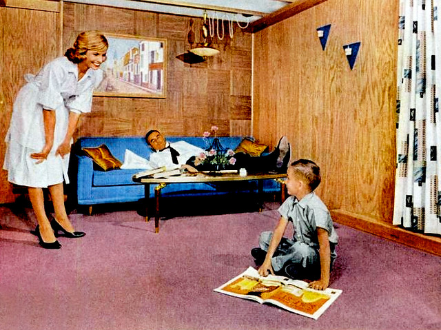 Living Room 1960 living room (1960) | mobile home ad is it just me or does da… | flickr