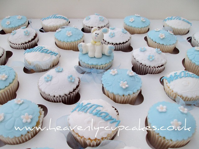 Christening Cup Cakes For Baby Boy