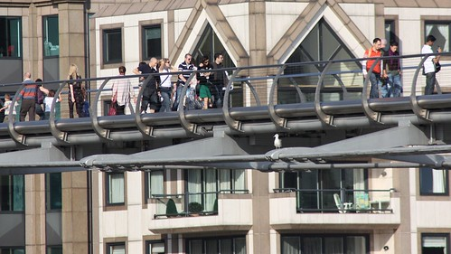 People on the Millennium Bridge | by essexglover