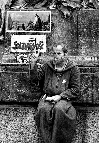 Catholic Priest & Solidarity, Krakow, Poland | by Gerald L. Campbell