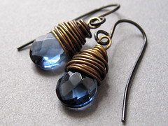 Rustic Spa Earrings | by Claire Williams Handcrafted Jewellery