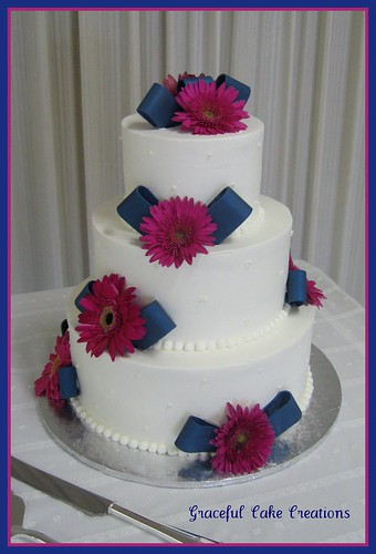 pink blue and white wedding cakes navy blue and pink wedding cake grace tari flickr 18569