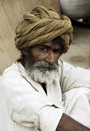 young old Indian man