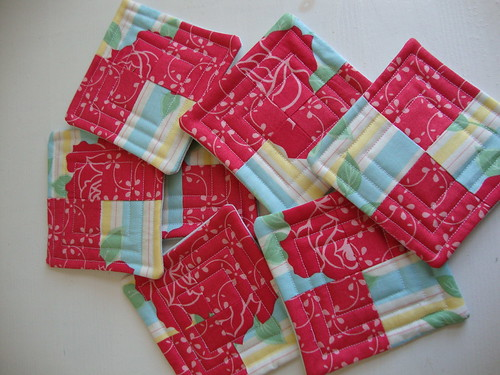 Moda Sweet Coasters | by Scissors & Thread
