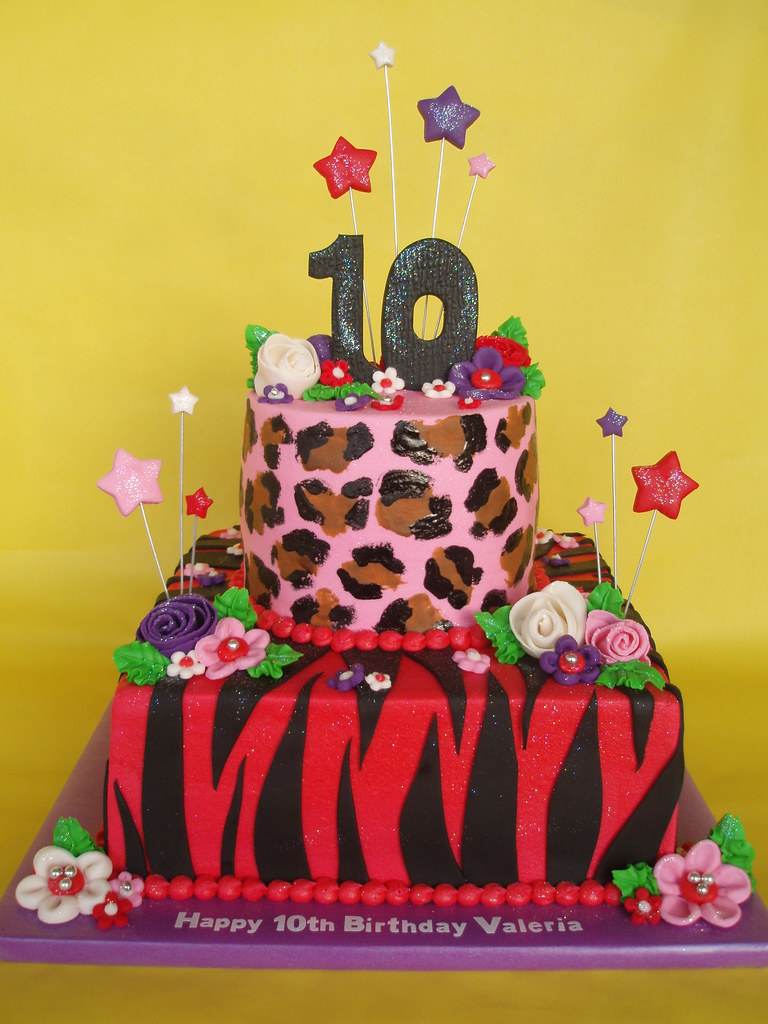 Super Girlie Animal Print Birthday Cake A Pretty In