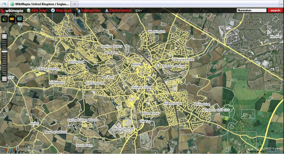 Wikimapia Map of Nuneaton This is the map of my hometown Flickr