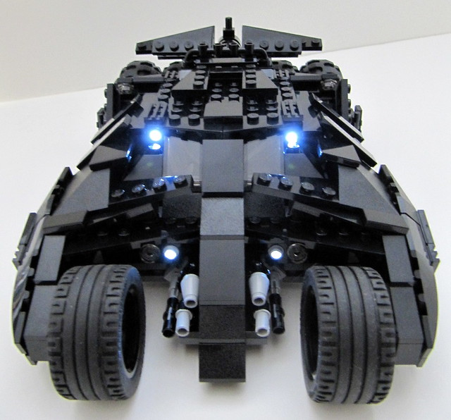 batman tumbler led 1 lego batman tumbler front view with. Black Bedroom Furniture Sets. Home Design Ideas