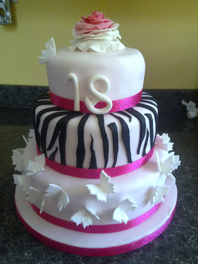 Girly 18th birthday cake 18th birthday cake for a ...