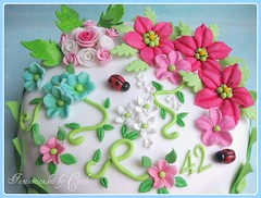 Close-up Spring Flowers Cake | by Fantasticakes (Cécile)