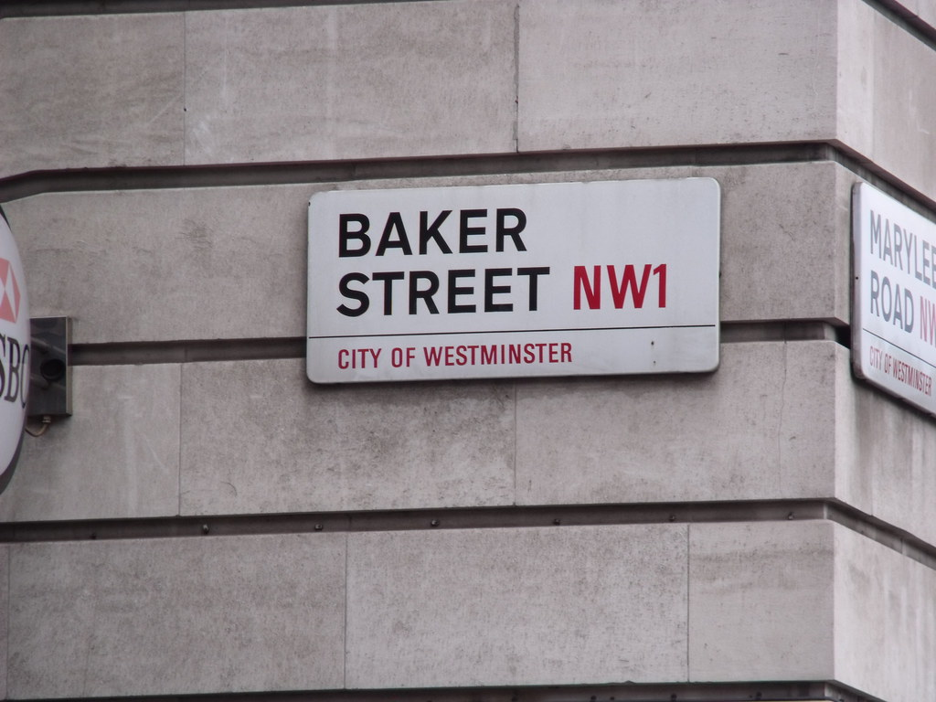 Baker Street - NW1 - City of Westminster - road sign | Flickr Zoo Road Sign