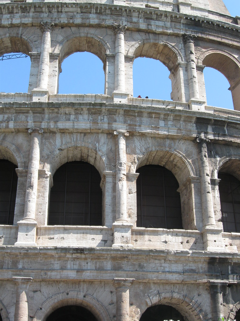 Superimposition Of Orders At The Colosseum Rome Doric