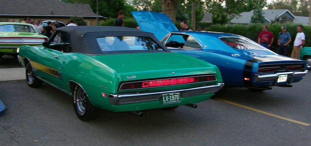 1970 Ford Torino Gt Convertible And 1969 Dodge Charger 500