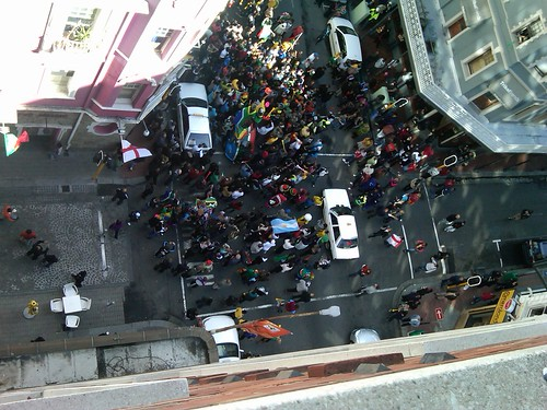 Football Crowds forming on Long St | by Travelstart South Africa