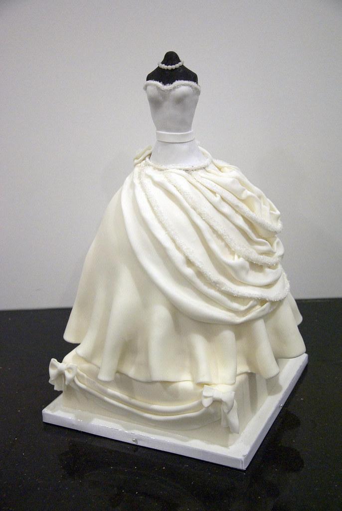 Bridal Shower Dress Cake A White Couture Wedding Dress