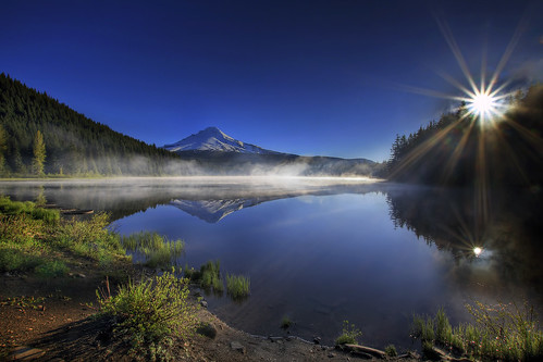 Sunrise at Trillium Lake, Oregon 3 - HDR | by David Gn Photography