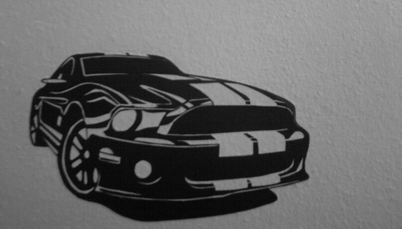 ford mustang shelby gt500 stencil