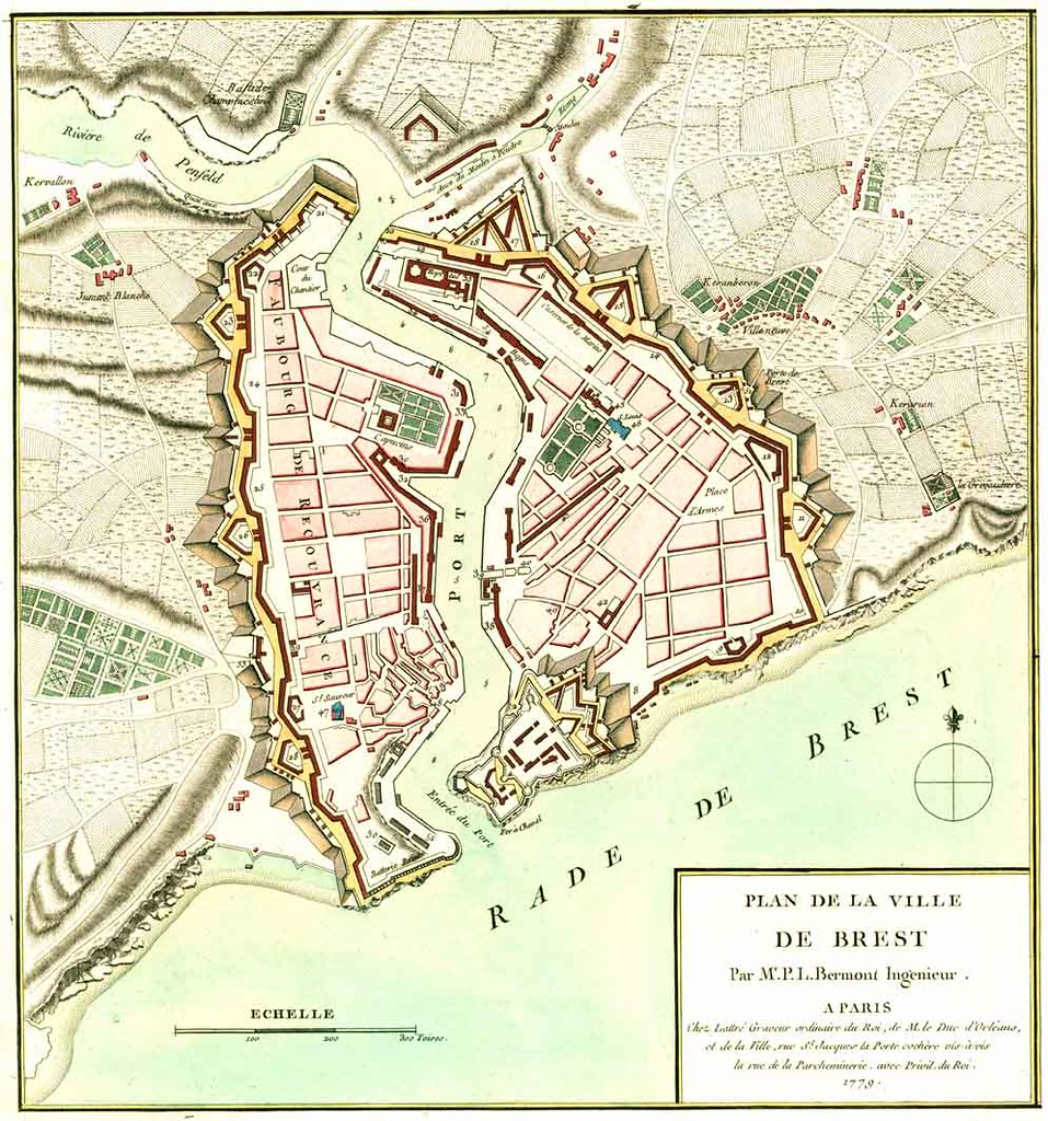 18th Century Map Of Brest France Www Mapsorama Com Brest Flickr