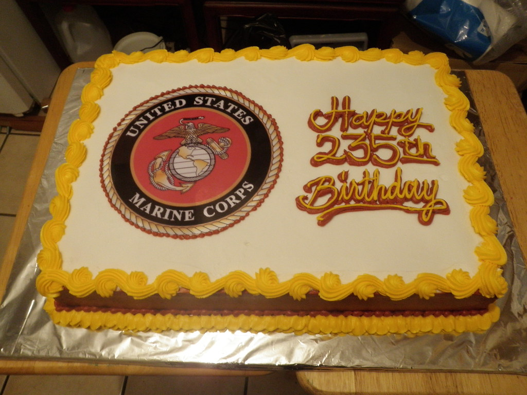 Usmc 235th Birthday Cake Coolcakes Flickr