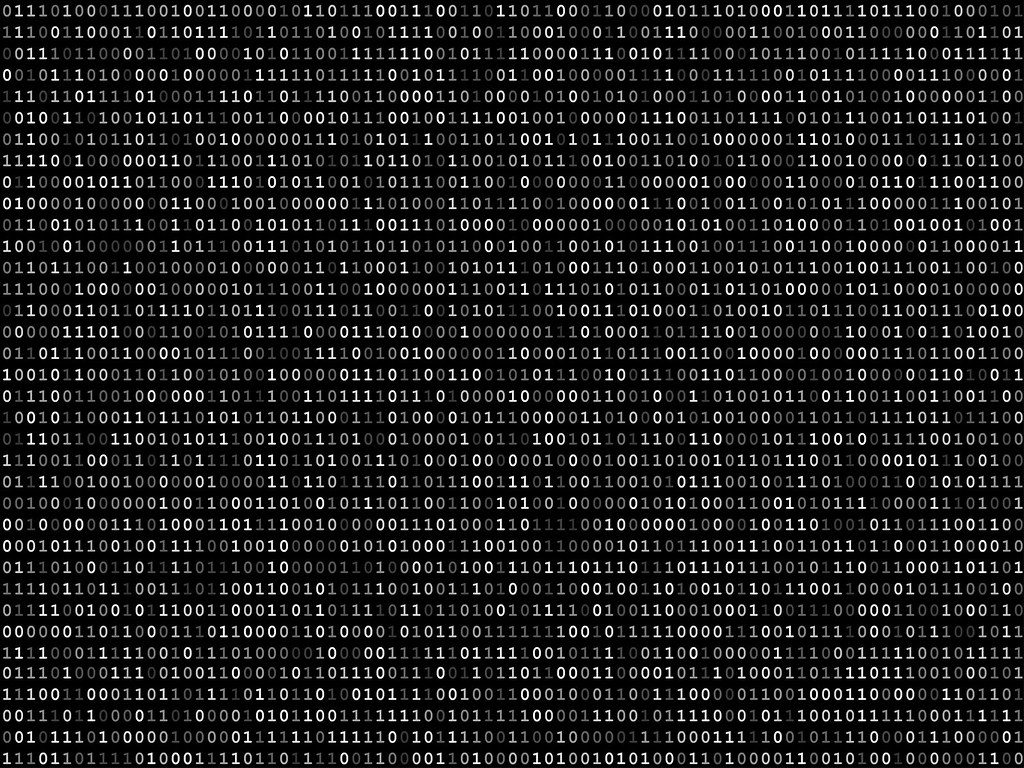 Blink Binary Code Screen Black Blink Binary Code Screen