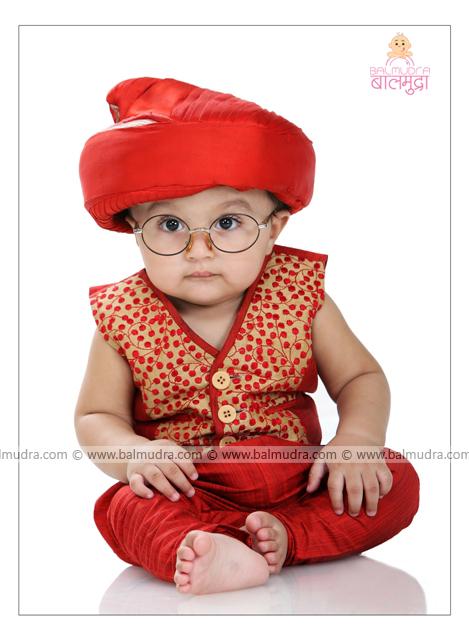 Very Cute Baby Boy Wearing Puneri Pagdi In Balmudra Studio Flickr