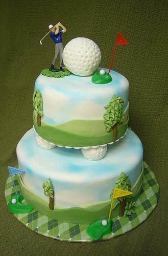 Golf Course Cake Decorating