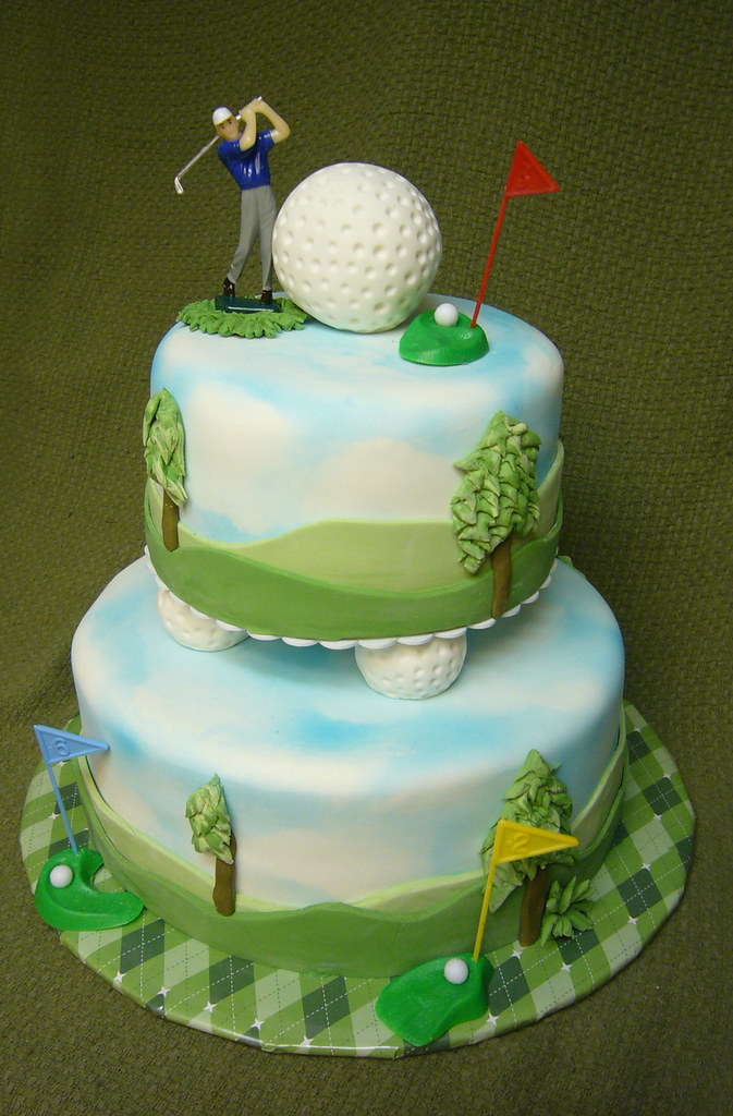 golfthemed 50th birthday cake Laurie Clarke Flickr
