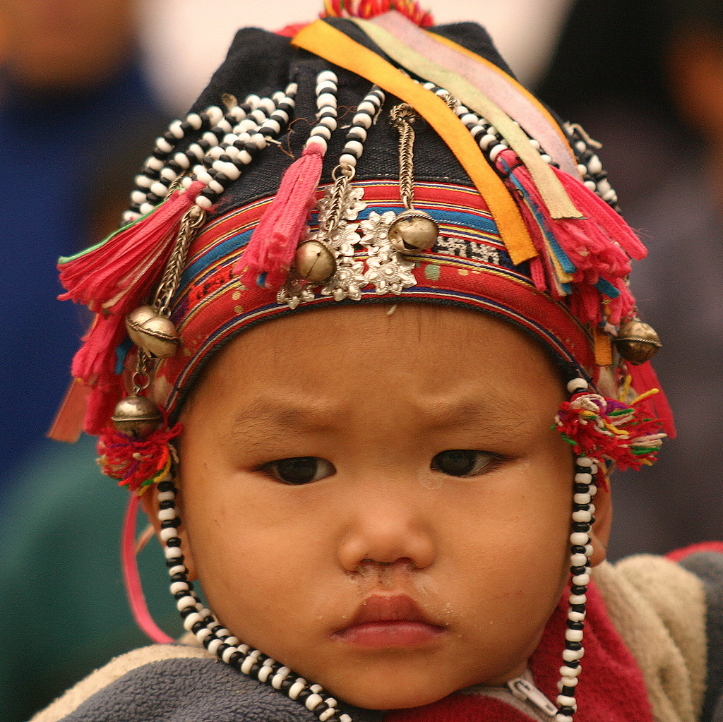 people of northern vietnam | Child with typical headgear ...