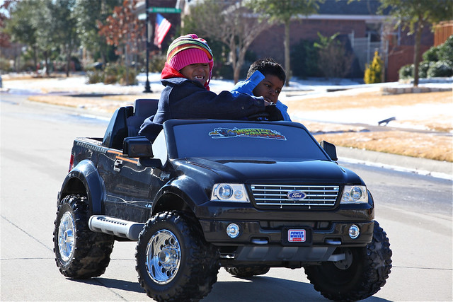 Kids In Motorized Ford F 150 Truck Ford F150 Harley