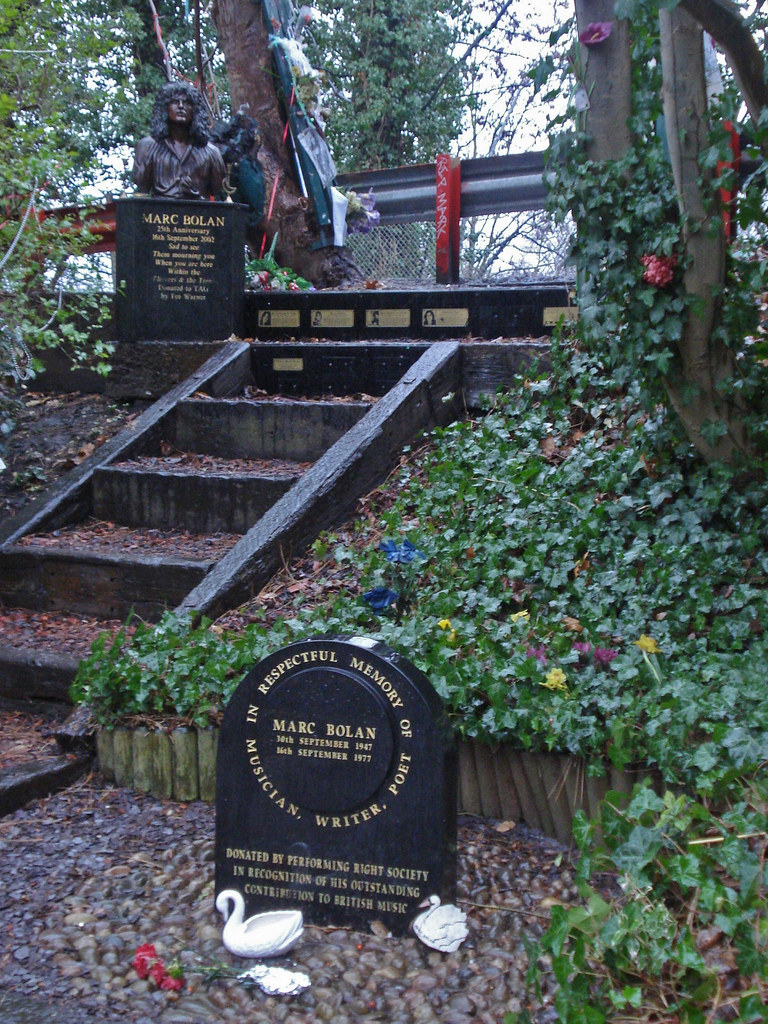 Marc Bolan shrine | Tributes, from a bronze bust to a ...