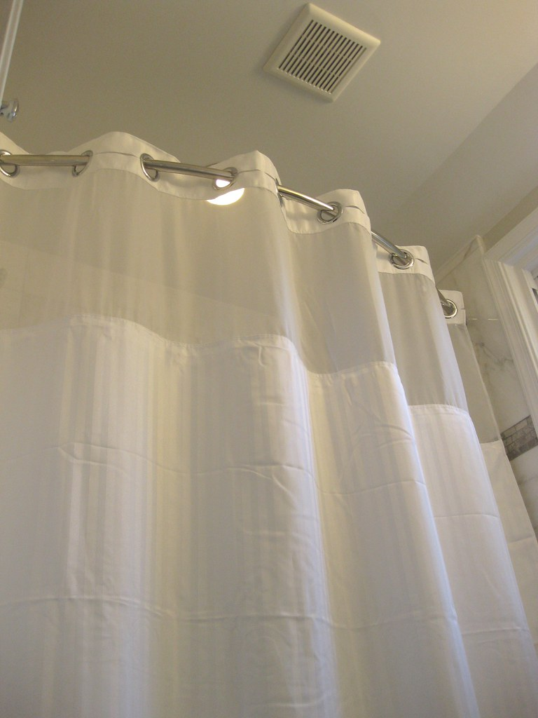 Shower Curtain / Exhaust Fan