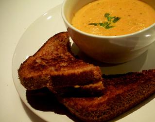 20100120 - creamy tomato soup + toasted cheese | recipe ...