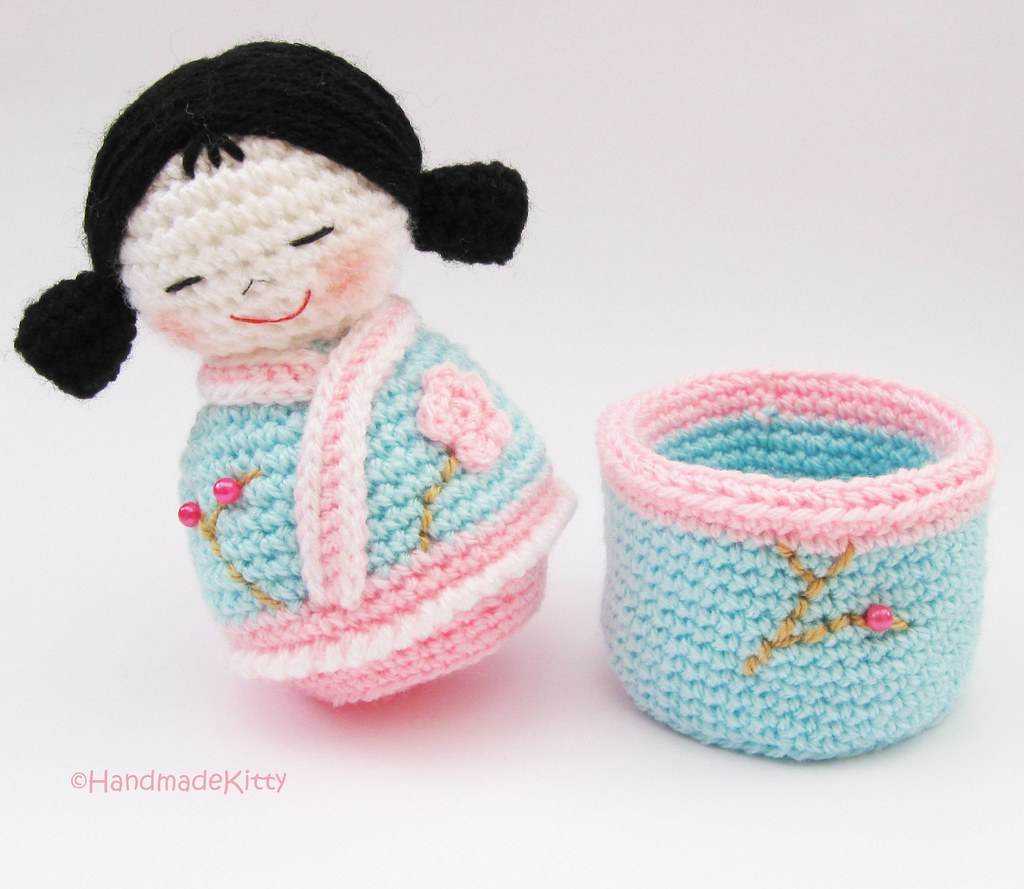 Japanese Kokeshi Girls Jewelry Box Amigurumi Crochet Patte Flickr