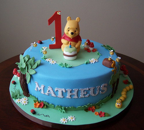 Pooh Birthday Cake Design : Winnie the Pooh cake This cake was made based on a ...