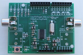 VideoOverlayShield v.10.02 board top | by Low Voltage Labs