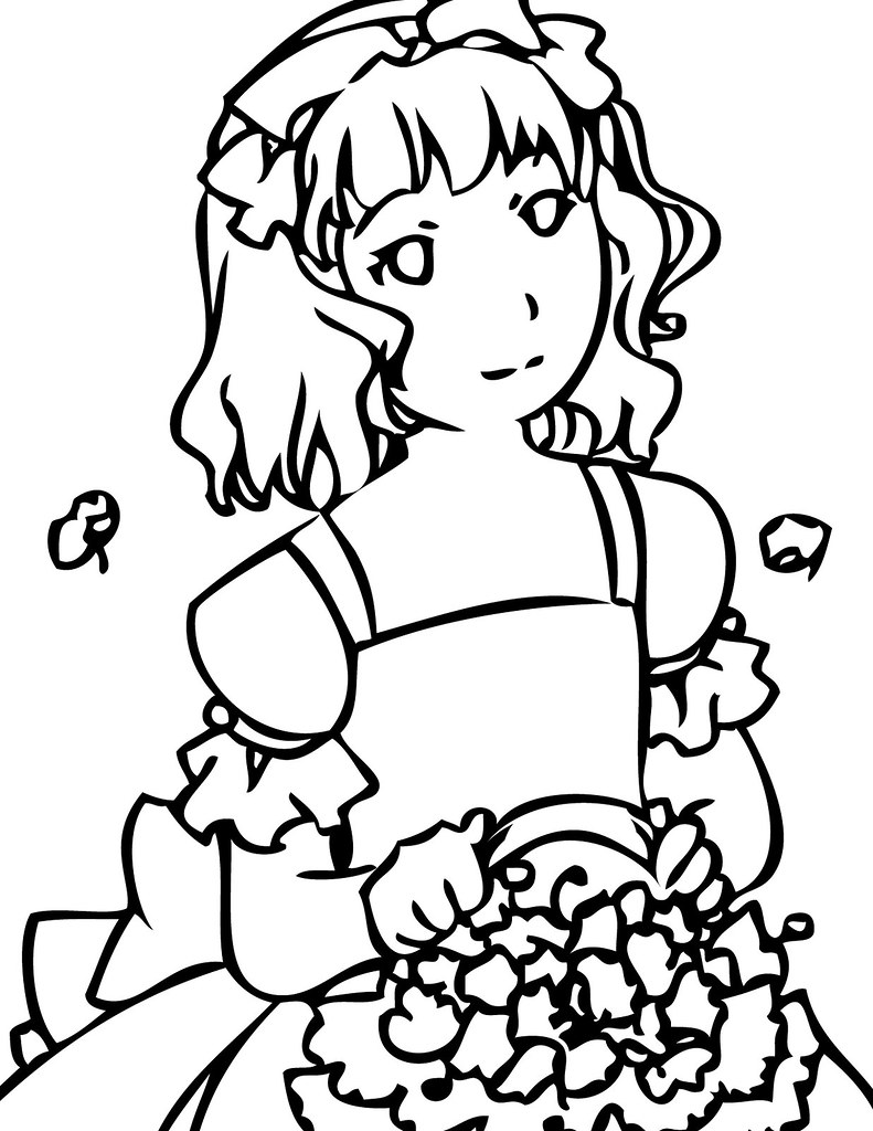 Flower Girl Coloring Page | Katie Soltysiak | Flickr