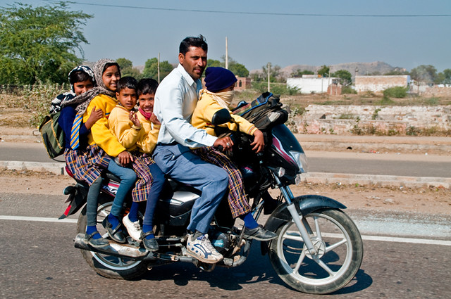 motorcycle family pics  Indian family on one motorcycle | Indian family on one motor… | Flickr