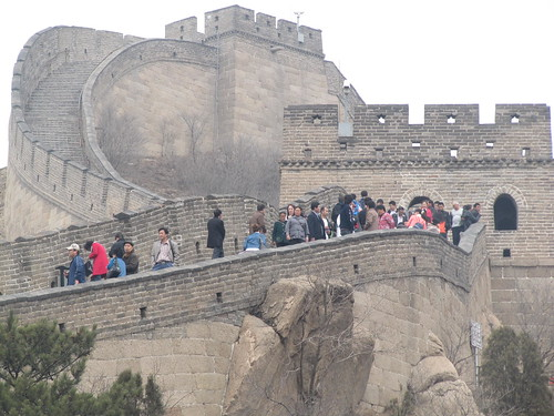 Crowds at Great Wall of China | by http://klarititemplateshop.com/