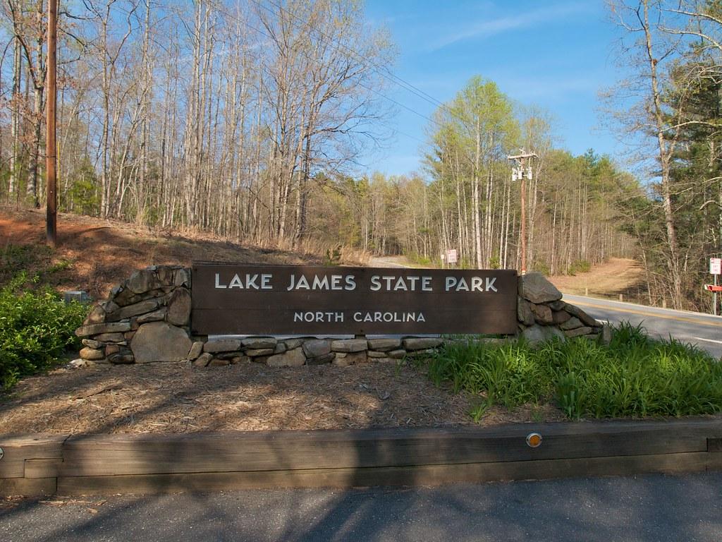 Lake james state park entrance sign entrance sign at for Lake james fishing