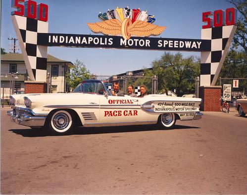 1958 pontiac bonneville driven by sam hanks for Indianapolis motor speedway com
