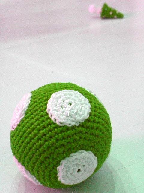 Amigurumi Häkeln Gehäkelt Shabby Landhaus Dots Punkte Grün Flickr