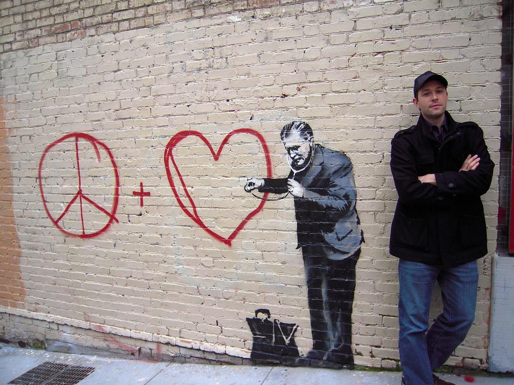 "Banksy ""Peaceful Hearts"" Doctor - Chinatown, San Francisco ..."