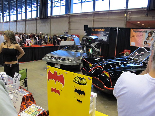 Batmobile and DeLorean - Chicago Comic & Entertainment Expo | by kingpenguin1029