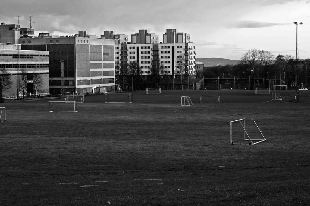 Empty Soccer Field Night Empty Soccer Field