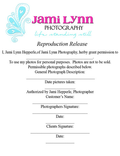 Copyright Release Form Paper Size Jami Hepperle Flickr