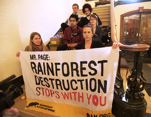Activists Occupy Cargill HQ, Shutting Down Business for Cutting Down Rainforest | by Rainforest Action Network