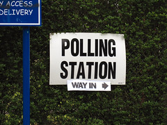 Polling station (way in) | by Paul Albertella