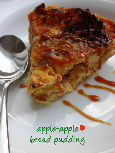 apple-apple bread pudding | by awhiskandaspoon