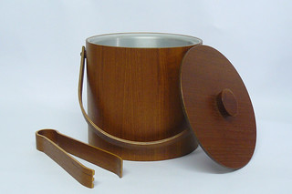 1960s teak ice bucket | by planetutopia
